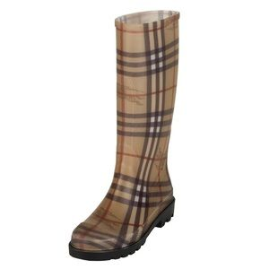Burberry New Plaid Check Rainboots size 39/9